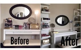 ikea malm shelf makeup storage and organization ikea lack shelf unit malm