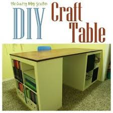 diy craft table ikea how to make a custom craft table ikea kallax shelf kallax shelf