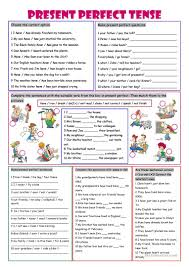 present perfect tense worksheet free esl printable worksheets