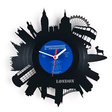 themed wall clock unique and creative black london wall clock silver hour