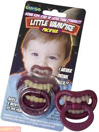 baby dummy toddlers halloween vampire teeth pacifier fancy dress