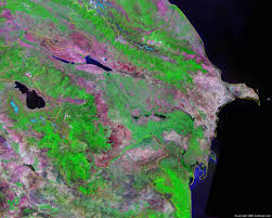 Caucasus Mountains World Map by Azerbaijan Map And Satellite Image