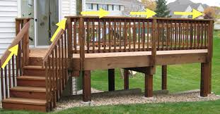 Height Of Handrails On Stairs by Standard Deck Railing Height 2017 And Stair Home Pictures