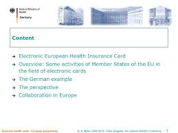 electronic health cards european perspectives ppt