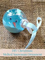 12 days of diy ornaments melted snowman ornament