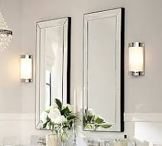 Beveled Mirror Bathroom Bathroom Vanity Mirrors Pottery Barn