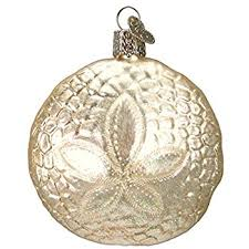 world sand dollar glass blown ornament