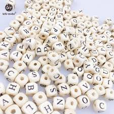 let u0027s make 200pcs 10 10mm wooden cube letters spacer beads