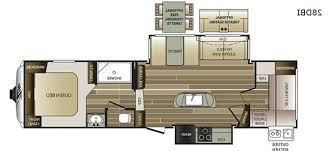 fifth wheel floor plan with outdoor kitchen rv trailers kitchens