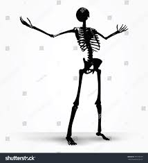 halloween skeleton silhouette vector image skeleton silhouette power pose stock vector 297779129