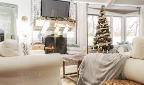 Christmas Livingroom My Rustic Glam Christmas Tree From Cheap And Fake To Fabulous