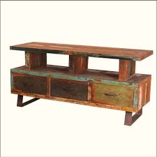 distressed wood tv stand