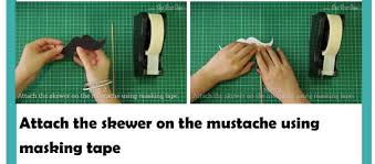 make mustache photobooth for baby shower homemade baby shower