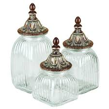 clear glass kitchen canisters clear glass canister jar set of 3 with lids is an excellent handmade