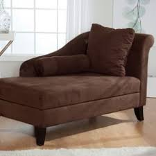 Emily Futon Chaise Lounger Succumb To The Luxurious Curves Of This Microfiber Chaise Lounge