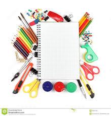 fournitures bureau fournitures de bureau d école et photo stock image du retrait
