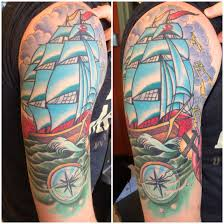 zanependergast healed ship compass american traditional tattoo