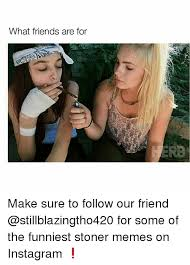 Funny Stoner Memes - what friends are for make sure to follow our friend for some of