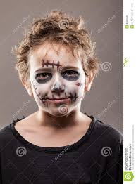Kids Makeup For Halloween by Screaming Walking Dead Zombie Child Boy Stock Photo Image 49995841