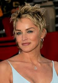 pics of crop haircuts for women over 50 trendy tousled short punky pixie cut for women sharon stone