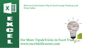 pivot tables and vlookups in excel how to create salary list using vlookup and pivot table in microsoft