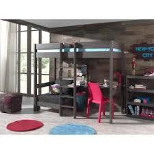 lit en hauteur avec canapé lit mezzanine avec canape achat vente pas cher