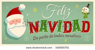 feliz navidad christmas card vintage style christmas card in feliz navidad de parte de