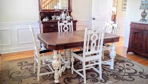 Painting Dining Room Furniture Dining Table Makeover With Java Gel Stain And Antique White At