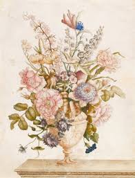 Flowers In A Vase Images Flowers In A Vase On A Marble Ledge By Nicolas Robert By Nicolas