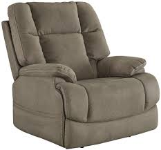 fourche latte power recliner with adjustable headrest from ashley