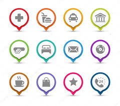 Map Pins Map Pins With Icons U2014 Stock Vector Davooda 26292911