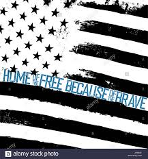 Design Of American Flag Monochrome Grunge American Flag Background Thin Blue Line Shaped