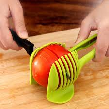 cutter de cuisine en plastique de pommes de terre trancheuse tomate cutter outil