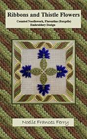 amazon com ribbons and thistle flowers counted needlework
