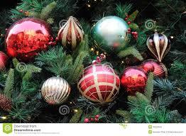 ornaments on tree lights decoration