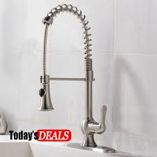 Lead Free Kitchen Faucets Comllen Lead Free Brushed Nickel Stainless Steel Pull Out Sprayer