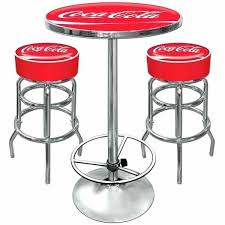 table with 2 stools table and stools coca cola pub table and 2 bar stools set cing