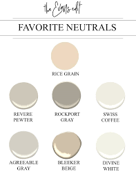 Paint Colors That Go Together 7 Tried True Neutral Paint Colors That Work Every Single Time