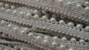pearl lace bordado frontera pearl lace sari border scarf dupatta lace