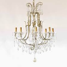 Iron Chandelier With Crystals Italian Iron Crystal Chandelier The Big Chandelier