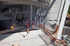mercedes benz arena stuttgart poured asphalt for buildings leonhard weiss construction company
