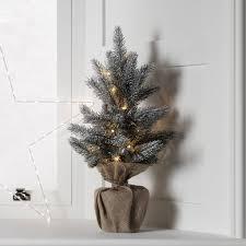 aspen pre lit mini frosted artificial tree by lights4fun