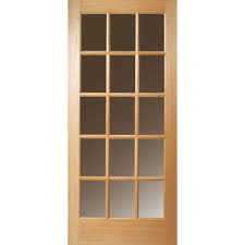 15 Lite Exterior Door Masonite 32 In X 80 In 15 Lite Clear Unfinished Fir Wood Front