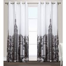 exclusive home manhattan grommet top window curtain panels 54