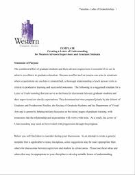 Create Best Resume by Of Letter Understanding And Agreement Sample Readmission The