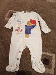 paddington clothes unisex baby sleepsuit paddington ebay