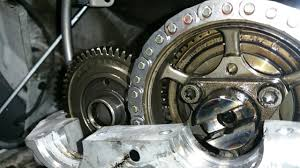 sprinter 2500 how to set the timing chain and crankshaft pulley