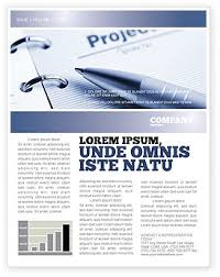 project description newsletter template for microsoft word u0026 adobe