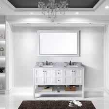 Backsplash With Marble Countertops - virtu usa winterfell 60 inch double sink white vanity with carrara