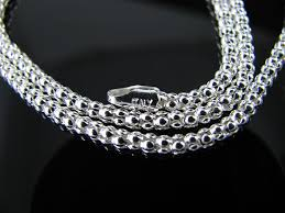 sterling silver necklace chains images 925 polished sterling silver light popcorn chain 3mm necklace jpg